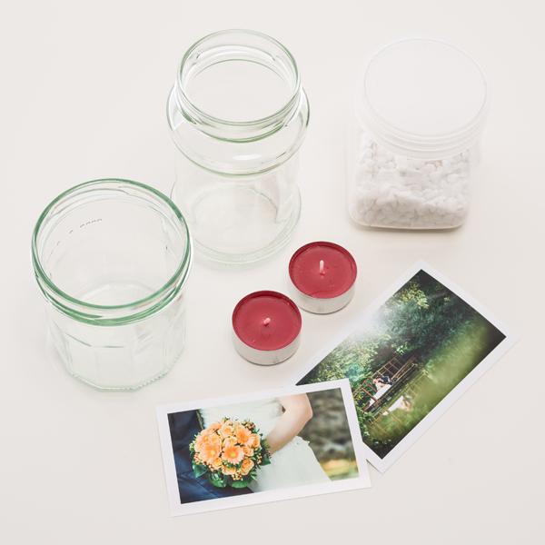 Zutaten Teelichtglas