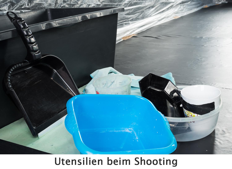 Utensilien beim Shooting