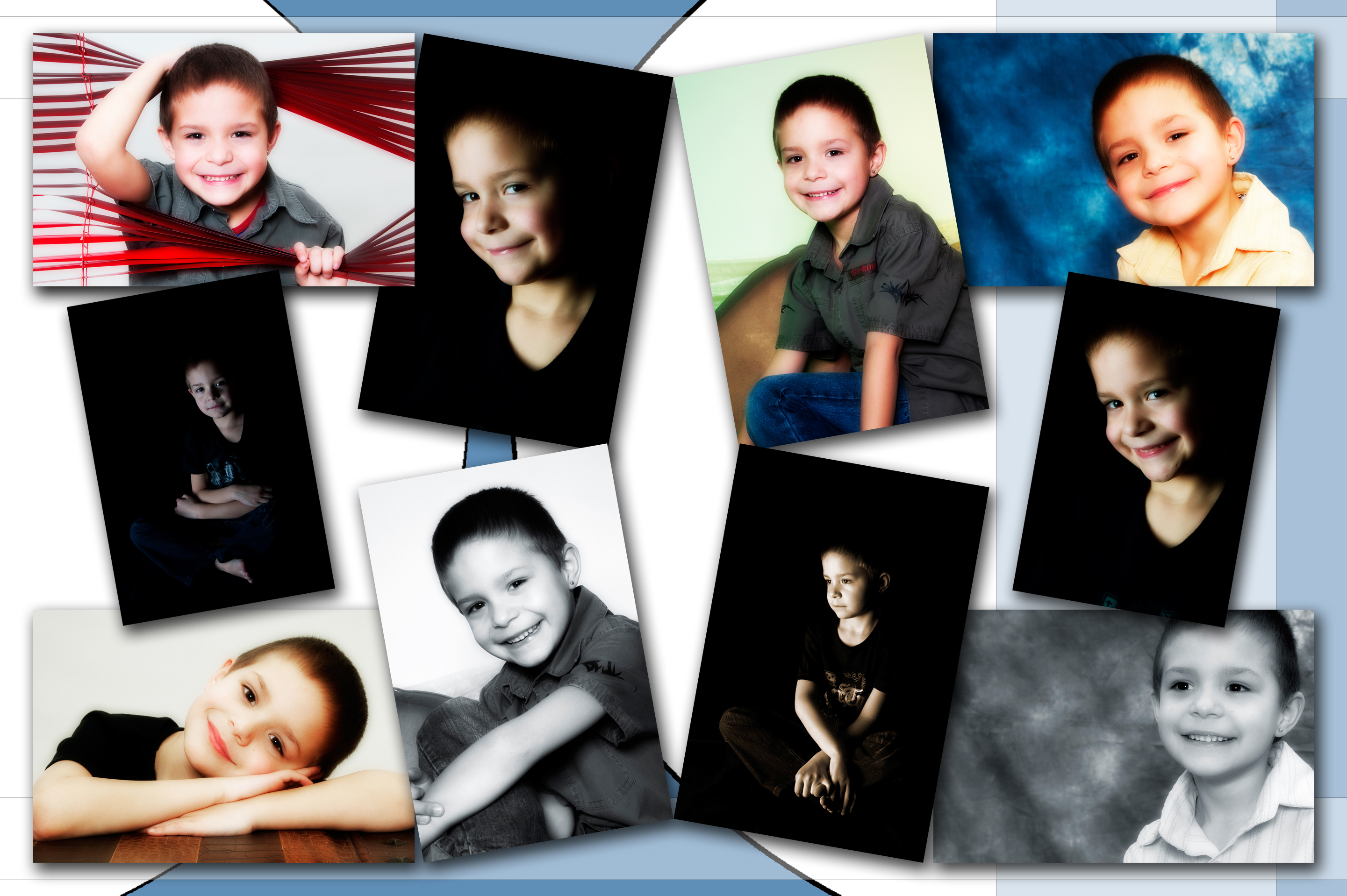 Produkte Collage mit Kinderfotos