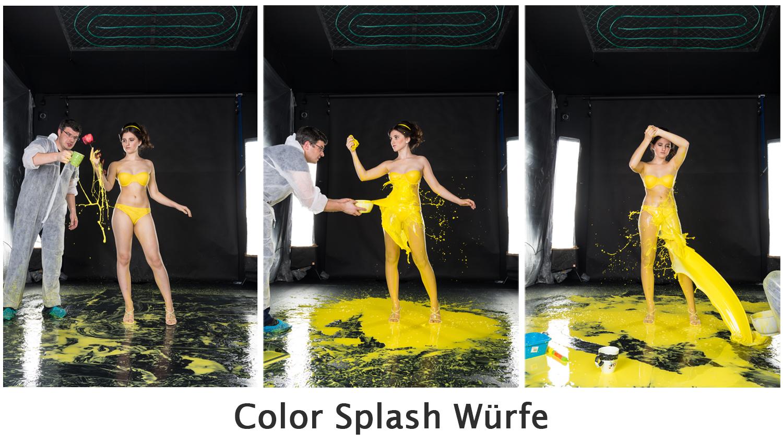 Color Splash Würfe