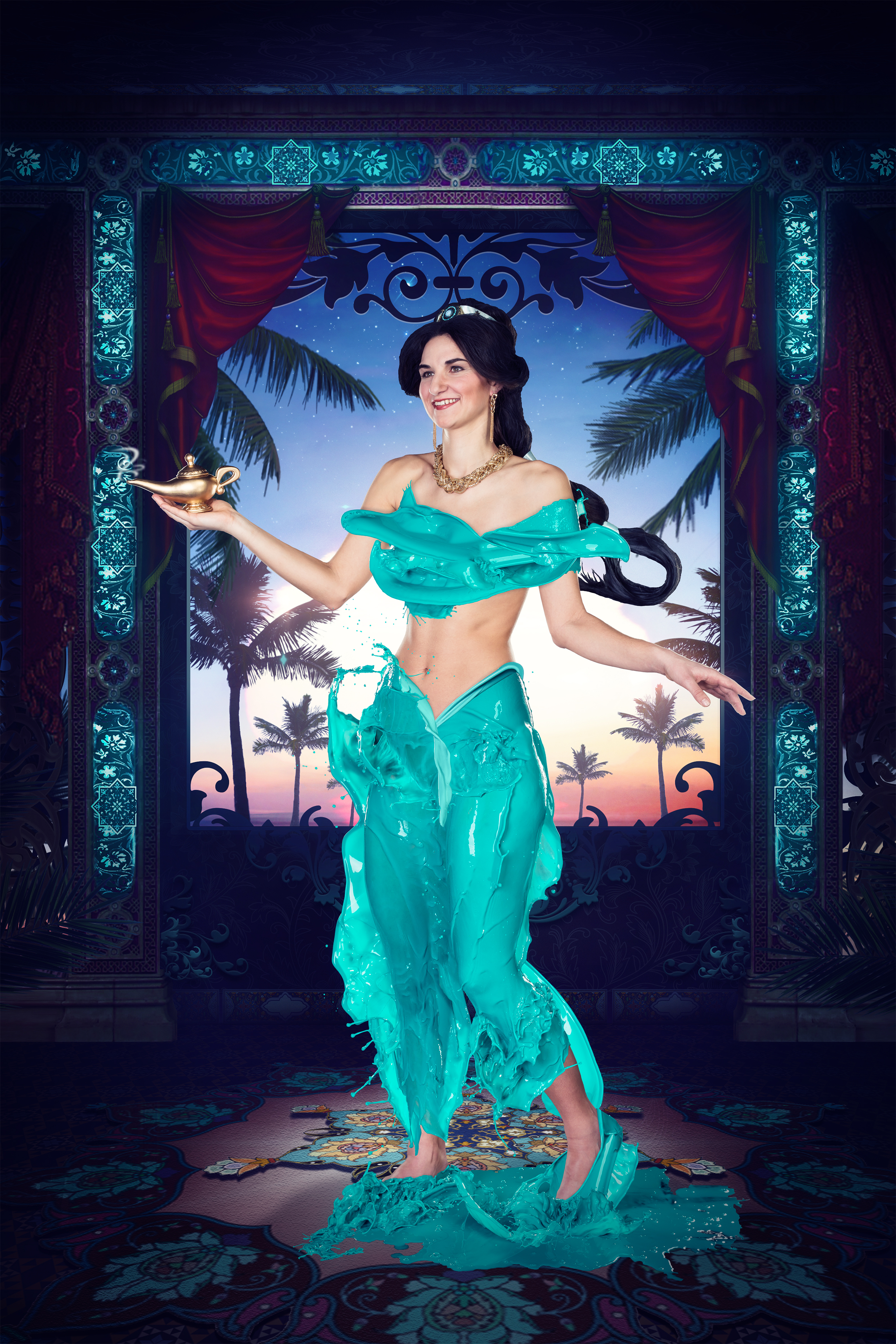 Verena colors DISNEY 11  Jasmin von Aladin  Fotografie Verena